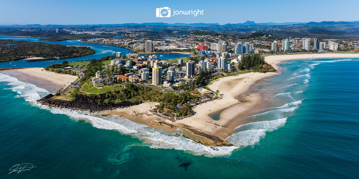 Coolangatta, Snapper Rocks, Aerial, Canvas art