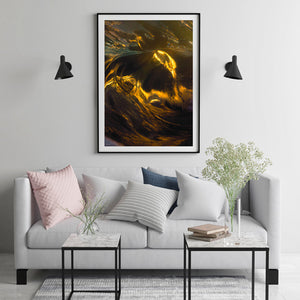Abstract Light Portrait Black Frame