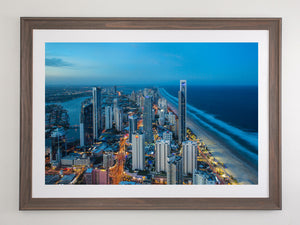 Beach Brown frame with white mat