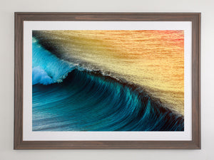 Beach brown frame with white mat board