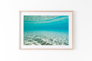 Contoured Sands Oak Frame beach print