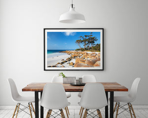 Beach Prints Wall Art Black Frame