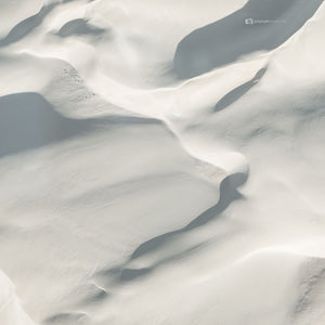 Soft White abstract print of sand dunes