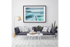 Black Framed Beach Print