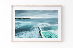 Bondi Beach Oak Frame artwork