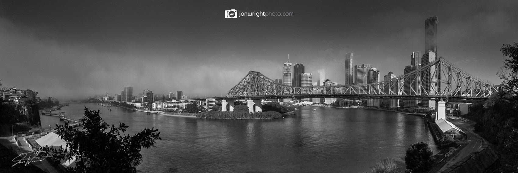 Brisbane City Fog Pano - Brisbane city, QLD Australia