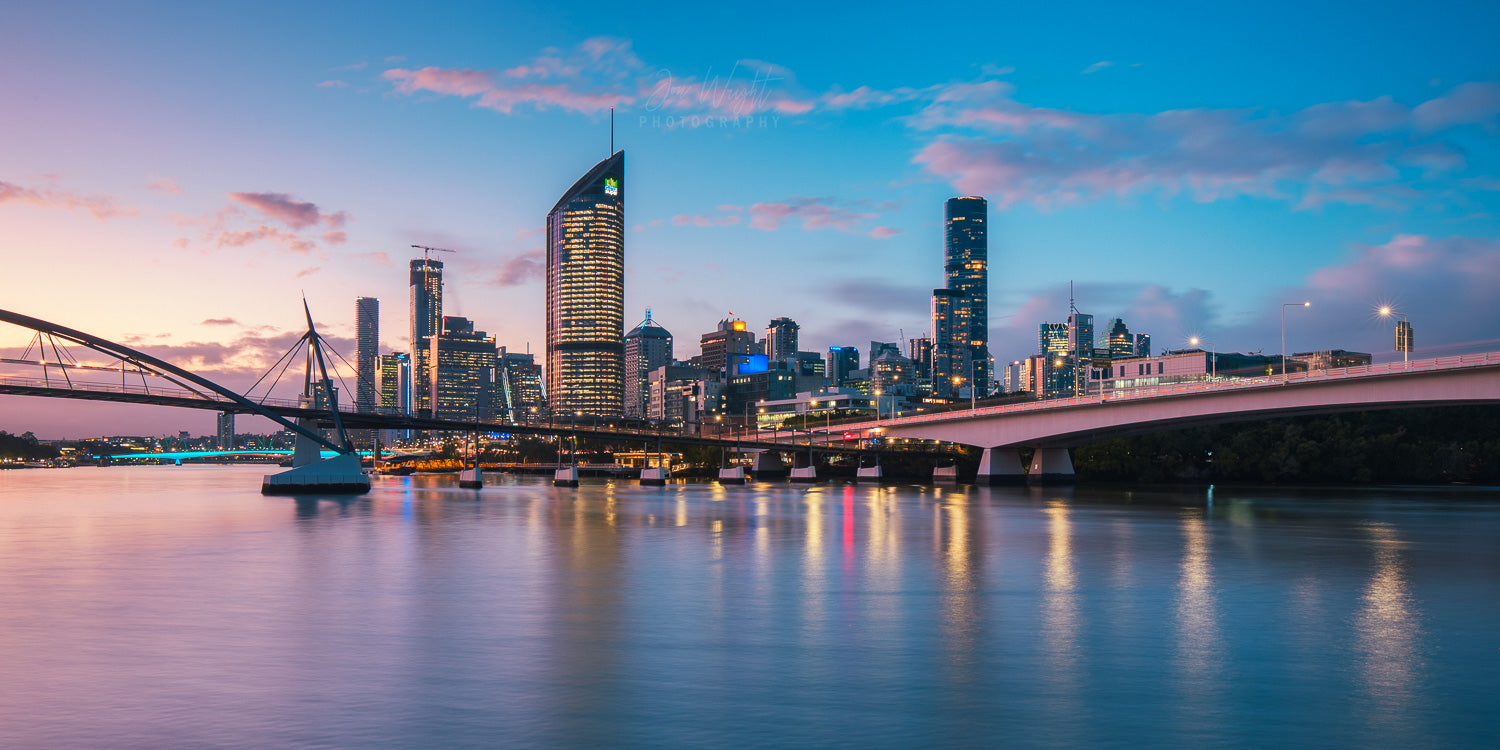 Brisbane City Panorama Photograph
