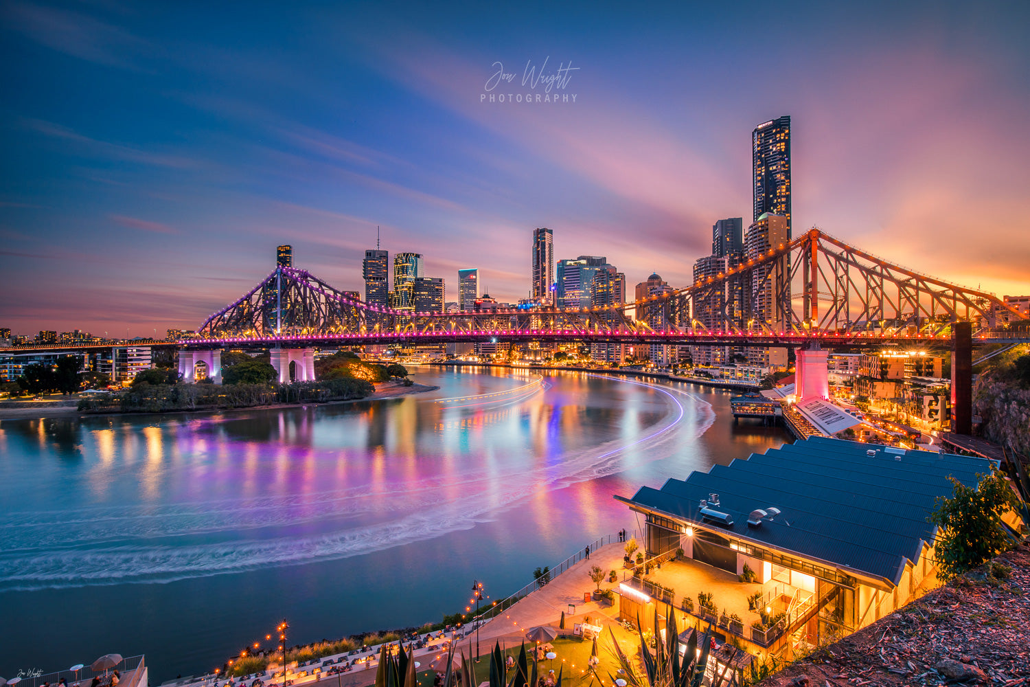 Brisbane Story Bridge Sunset Photography artwork