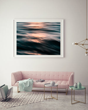 Rose Gold Ocean Art Print
