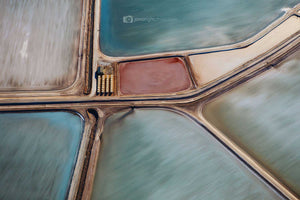 Salt ponds useless loop western australia red centre abstract wall art