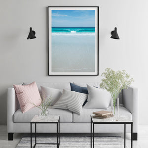 Beach Print Black Frame