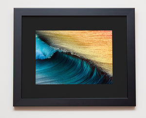 Classic black frame with black mat board