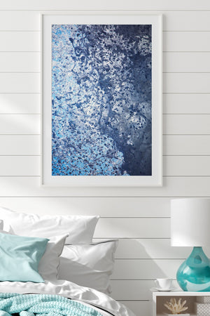 White Frame modern wall art beach styled room