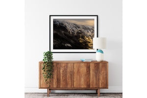 Coastal interior styling with surf print