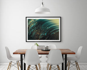 Details - Abstract Wave Photography black Framed Print