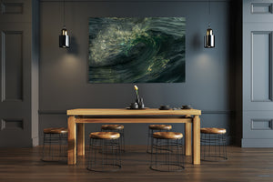 Emerald Flare Acrylic Print - Wave prints