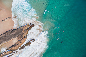 Snapper Rocks Aerial Print Gold Coast