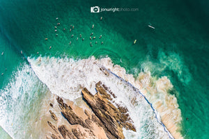Snapper Rocks Aerial artwork