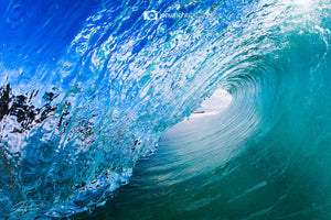 Wave art gold coast - Metallic print