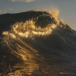 Ocean Art Gold Wave Surf Photo and print