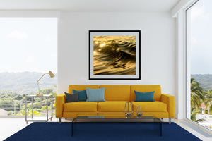 Golden Curl Oak Beach Print and framed artwork
