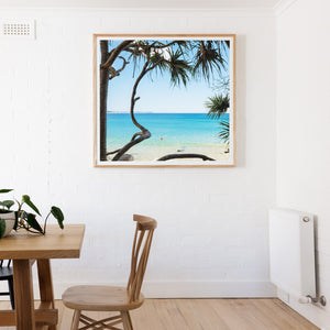 Greenmount beach gold coast prints square wall art oak frame