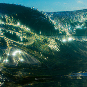 Wave Art and Photography Green Square print
