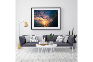 Gold Coast Ocean Art Black Frame