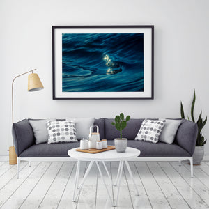 Liquid Silk Black Frame Wave Photography and Wall Art