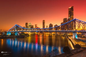 Brisbane City Story Bridge gold