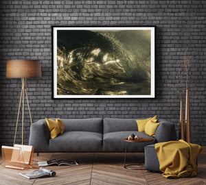 Mercury Framed Metallic Print - Wave Photography