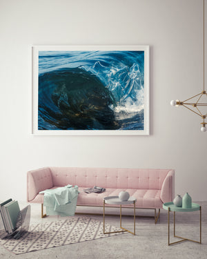 Mini Reef Framed In White Ocean Art