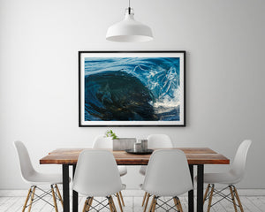 Mini Reef Framed in Black - Ocean Art Australia