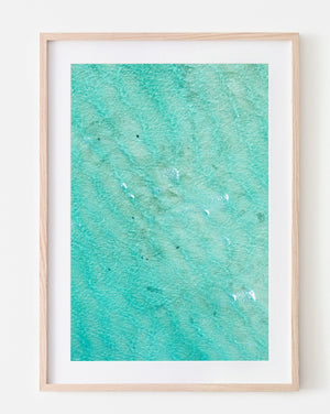 Oak Framed wall art beach print