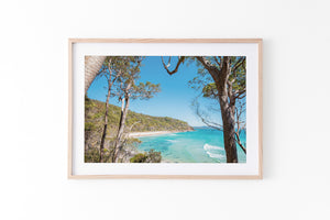 Tea Tree Bay Noosa Heads Oak Framed artwork