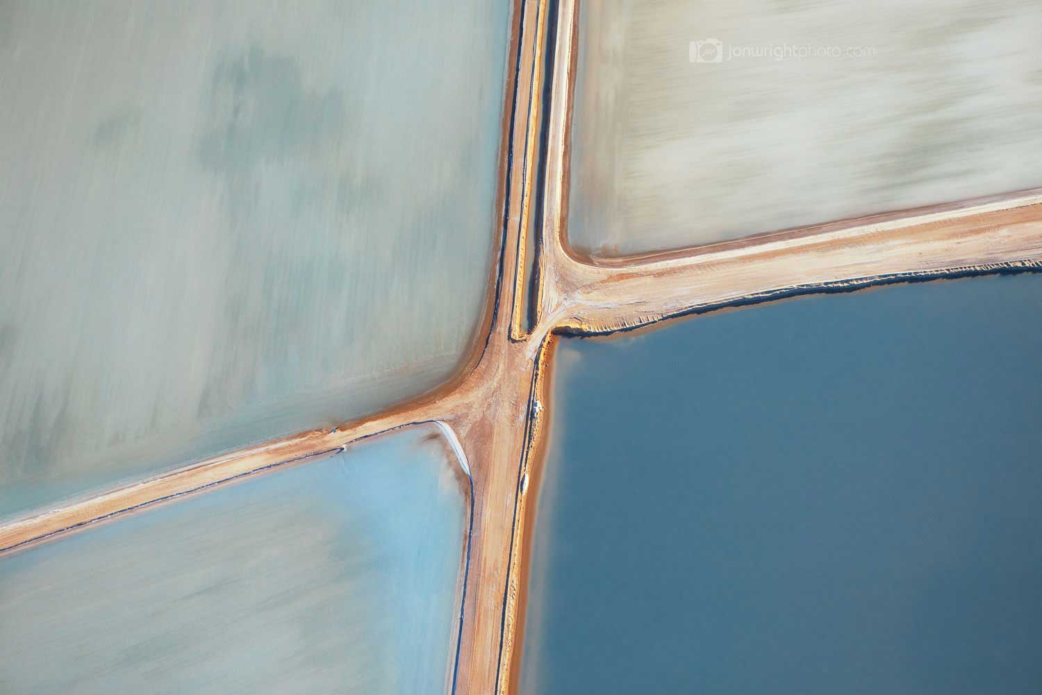 4 squares with roads between them fine art picture