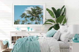 Palm Print White Frame Artwork