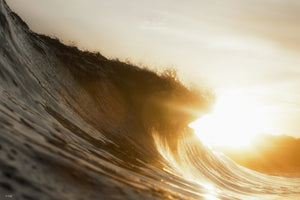 Sunset Wave Photography and ocean art prints