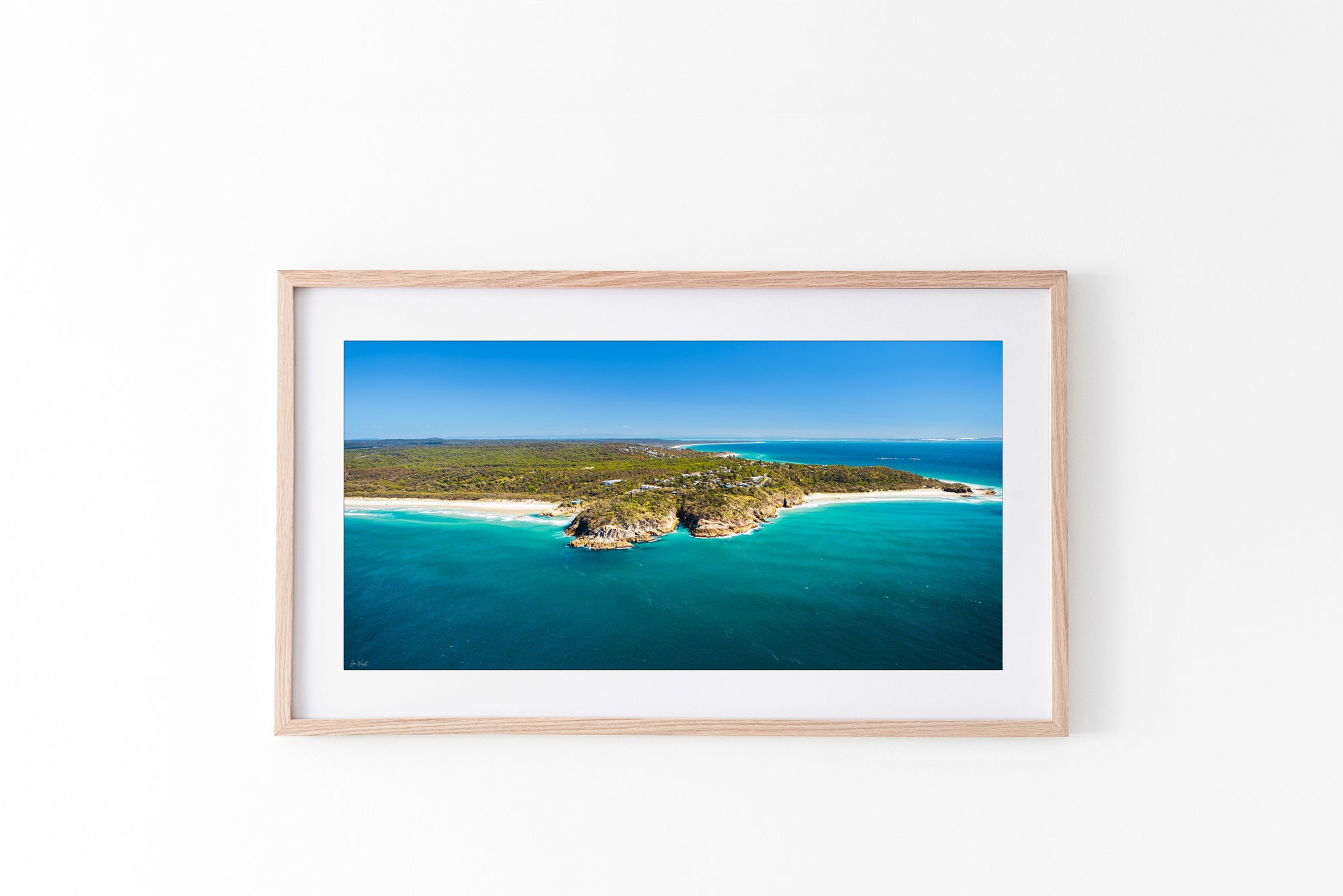 Point Lookout North Stradbroke Island Brisbane framed print