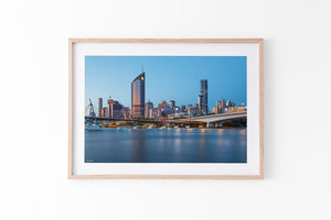 Brisbane Wall Art Print Oak Frame