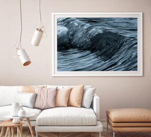 Quicksilver Wave Photos and Surf Art White Frame