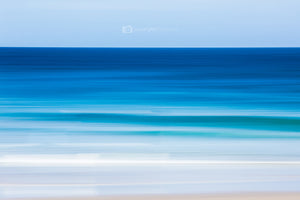 Revitalize beach abstract print with blue and white textured look