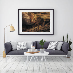 Shadow and Light Black Framed Wave art for sale