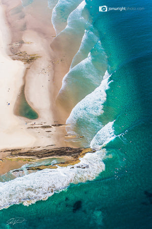 Snapper Rocks Aerial art - Coolangatta, QLD Australia
