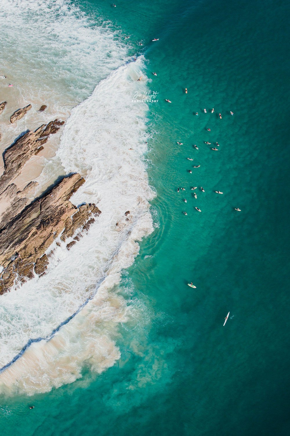 Snapper Rocks Gold Coast Aerial Print