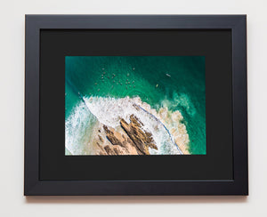 Snapper Rocks aerial black with black mat
