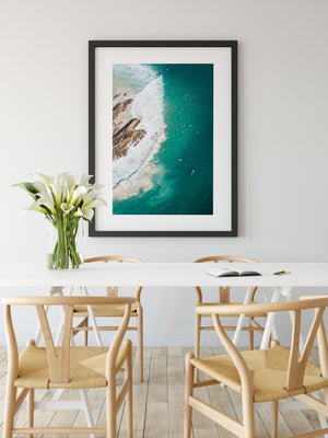 Framed Print Gold Coast Snapper Rocks on Wall
