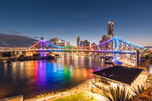 Story Bridge Rainbow - Brisbane City, QLD Australia