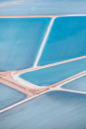 Useless Loop Salt Ponds Abstract Aerial Print