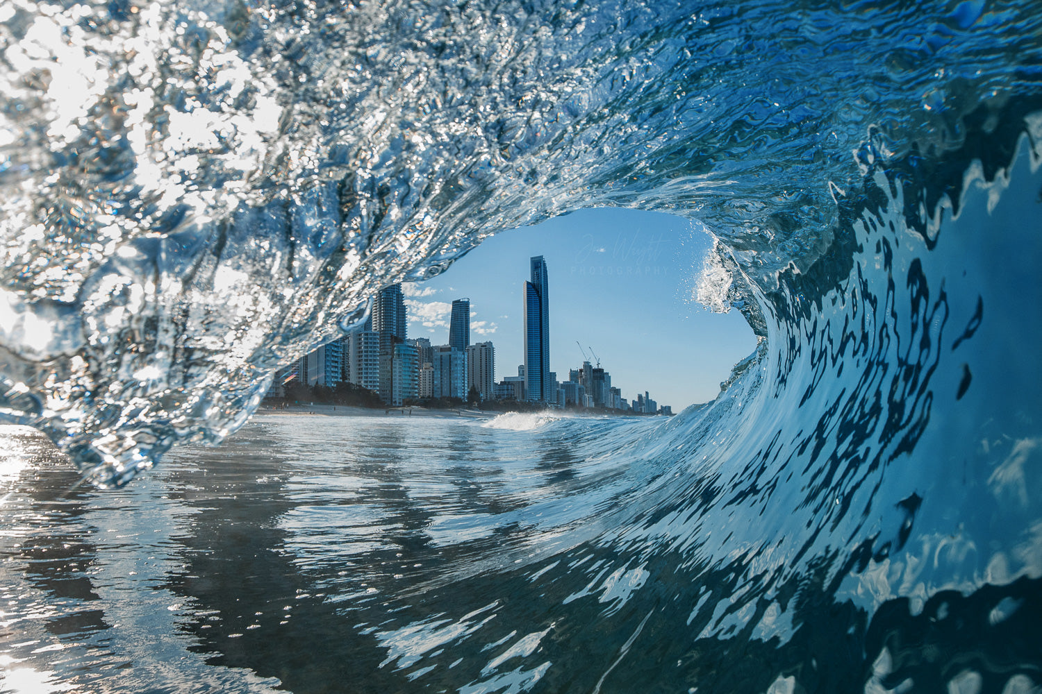 Surfers Paradise Wave Print Landscaphe photo